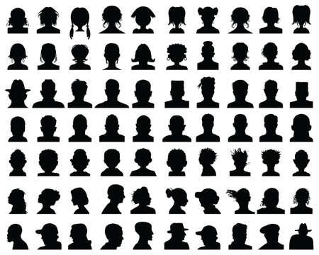Silhouettes of human heads, avatar profiles on a white background Zdjęcie Seryjne - 151369212