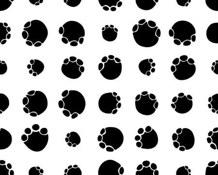 Seamless pattern with footprints of elephants white background Zdjęcie Seryjne - 152925801