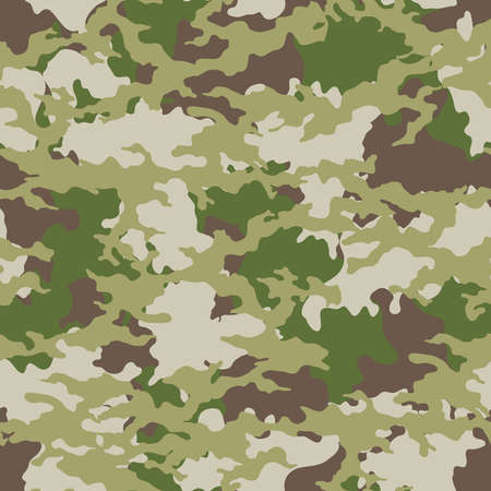 Fashionable camouflage pattern, military green print, seamless illustration Zdjęcie Seryjne - 154522656