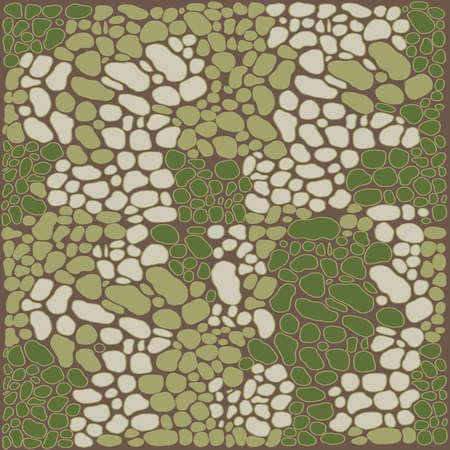 Fashionable camouflage pattern, military green print, seamless illustration