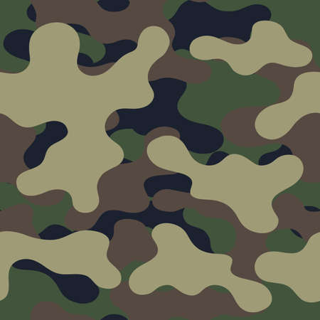 Fashionable camouflage pattern, military print .Seamless illustration Zdjęcie Seryjne - 157773742