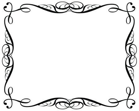 Decorative vintage frames on a white background Ilustracja