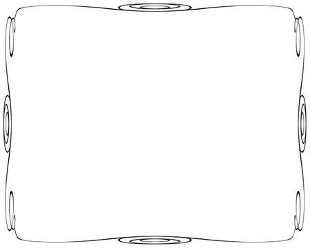 Decorative vintage frames on a white background Zdjęcie Seryjne - 161642911