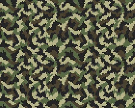 Digital fashionable camouflage pattern, fashion design, seamless illustration