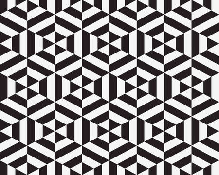 Abstract pattern of geometric hexagon seamless pattern
