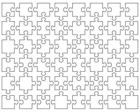 White puzzle, separate parts