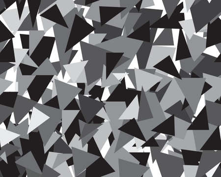 Gray triangular geometric template, abstract seamless pattern