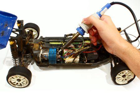 fixing rc model car Stock Photo - 2632287