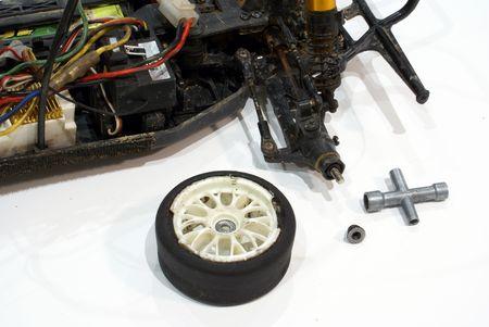 Model car fixing       photo