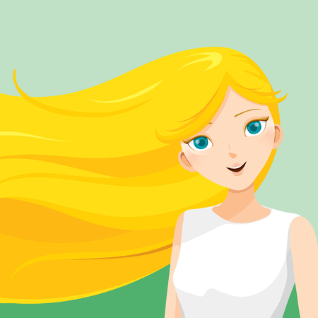 blue eyes: Young Woman With Long Blonde Hair, Blowing In The Wind, Hairstyles, Beauty