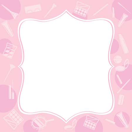 accessory: Cosmetic Equipments Border, Cosmetics, Accessory, Tool, Facial, Objects, Icons