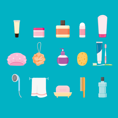 toiletries: Bathroom equipments set, healthy, hygiene, cleanness, product, home decoration, household, objects