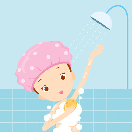 Girl bathing, body, beauty, spa, health, lifestyle, relax
