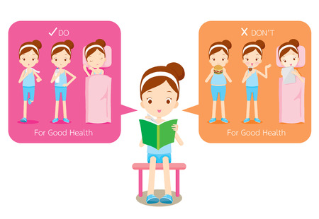 Something can do and do not for wellness, healthy, nutrition, medicine, mental and physical health, sport, daily routine Illustration