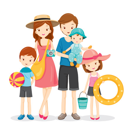 Happy Family With Summer Trip, Vacations, Holiday, Travel Destination, Relationship, Journey Trips, Lifestyle