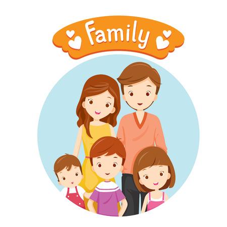 Happy Family Portrait, Relatie, Saamhorigheid, Vakanties, Vakantie, Lifestyle