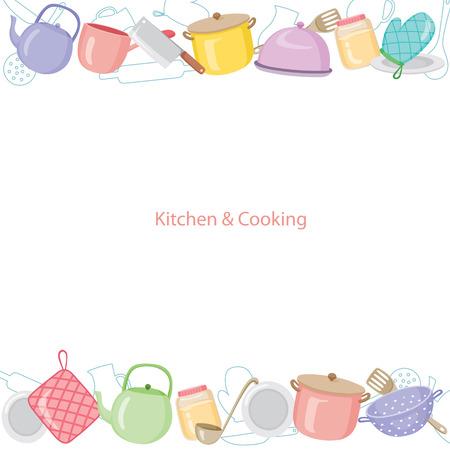 Küchengeräte Hintergrund, Küche, Küchenutensilien, Geschirr, Kochen, Lebensmittel, Bäckerei, Lifestyle