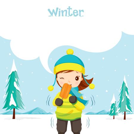 holiday vacation: Girl Eating Ice Cream, Activity, Travel, Winter, Season, Vacation, holiday, Nature, Object