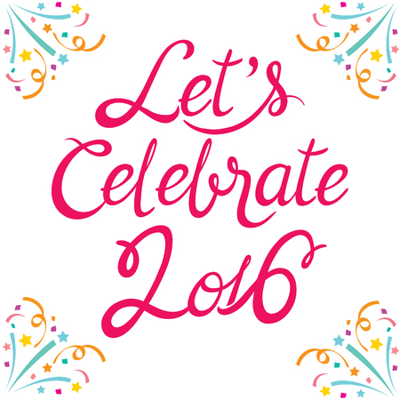celebrate: Celebration Lettering , Celebration, Festive, Anniversary Illustration