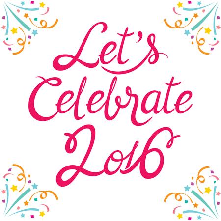 celebration: Celebrazione Lettering, celebrazione, festivo, Anniversario Vettoriali