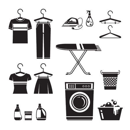 laundry symbol: Cleaning, Laundry Icons Set, Monochrome, Housework, Appliance, Domestic Tools, Computer Icon, Cleaning, Symbol, Icon Set, Spring Season