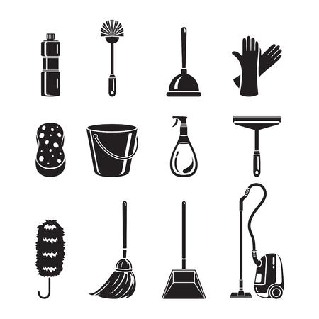 Het schoonmaken, Home Appliances Icons Set, Monochroom, Huishoudelijk werk, Appliance, Nationale Gereedschap, Computer Icon, Schoonmaken, symbool, pictogram Set, Lentetijd