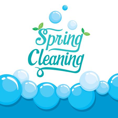 Nettoyage de printemps Lettre de décoration et de mousse de fond, le ménage, appareils, outils domestiques, Icône d'ordinateur, nettoyage, Symbole, Icon Set, Spring Season
