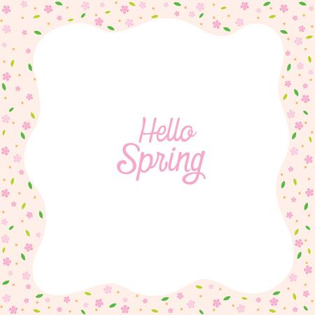 spring leaf: Floral And Leaf Pattern Border, Spring Season, Nature, Children, Animal, Flower