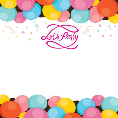 högtider: Ballonger Frame, Party, bankett, Feast, fest, Corporate Party