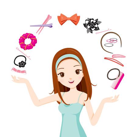 Chica con accesorios de pelo, accesorios, Coiffure, peluquería, belleza, peinado, estilo de vida, moda