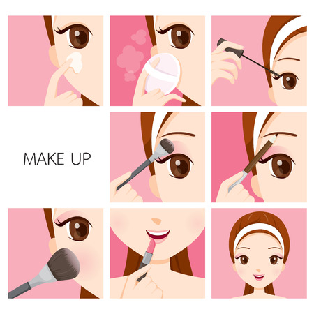 make up face: Step To Make Up For Woman, Facial, Beauty, Cosmetic, Makeup, Health, Lifestyle, Fashion