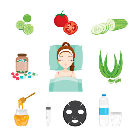 pimple: Health Skin Face And Body Icons Set, Facial, Beauty, Cosmetic, Makeup, Health, Lifestyle, Fashion