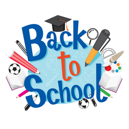 Back To School With Stationery, Back to school, Educational, Stationery, Book, Children, Knowledge, School Supplies, Educational Subject