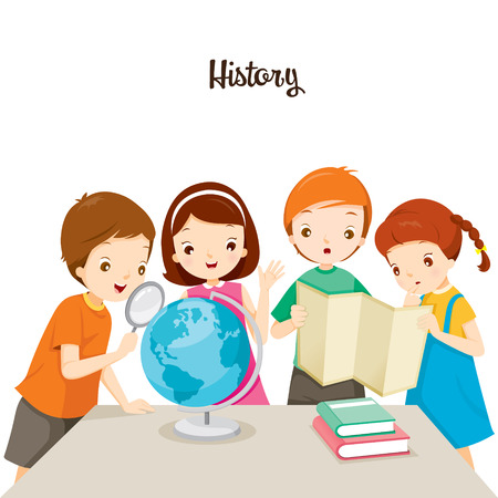 Children In History Class, Back to school, Educational, Stationery, Book, Children, Knowledge, School Supplies, Educational Subject