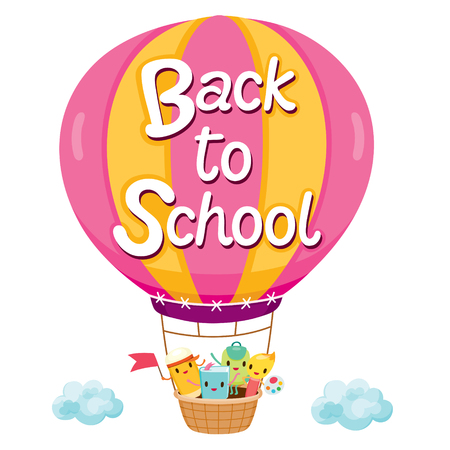 educational subject: Back To School Letters On Balloon With Education Characters, Back to school, Educational, Stationery, Book, Children, School Supplies, Educational Subject, Objects, Icons