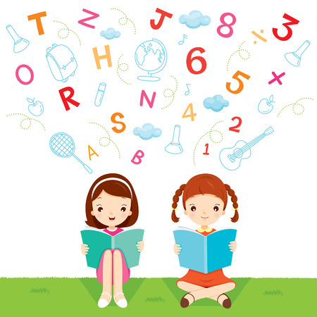 educational subject: Children Reading Book, World Book Day, Back to school, Educational, Stationery, Book, Children, School Supplies, Educational Subject, Objects, Icons