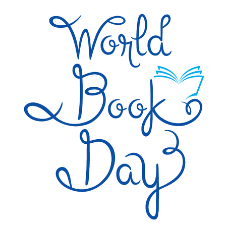 soumis: World Book Day Lettering, World Book Day, Back to school, Educational, Stationery, Book, Children, School Supplies, Educational Subject, Objects, Icons Illustration