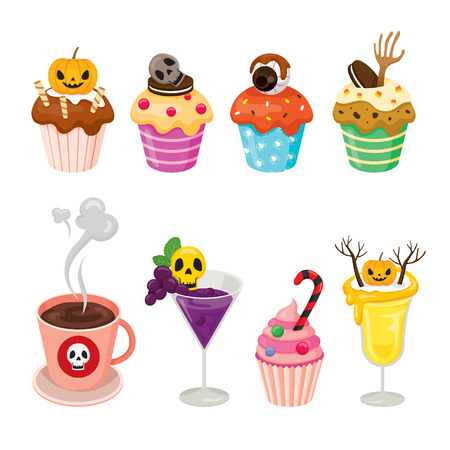 high calorie: Halloween Desserts and Beverages Set, Mystery, Culture, Holiday, High Calorie Food, October, Fantasy