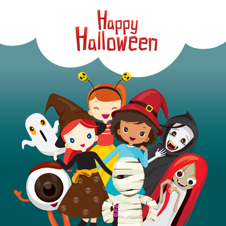 mystery: Halloween Ghosts and Children, Mystery, Holiday, Culture, October, Decoration, Fantasy, Night Party