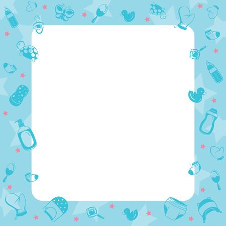 Baby Icons Objects Border, Baby, Accessories, Border, Frame Ilustração