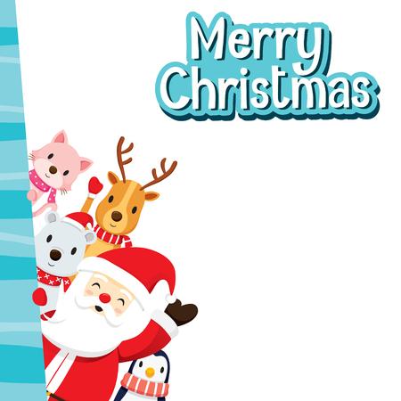Présentation - Patrick 55425207-tarjeta-de-felicitaci%C3%B3n-de-navidad-con-santa-claus-y-los-animales-feliz-navidad-navidad-feliz-a%C3%B1o-nuevo-ob
