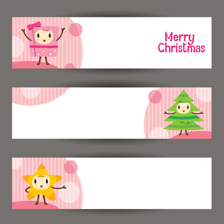 design objects: Christmas Ornaments Character Design Banner, Merry Christmas, Xmas, Happy New Year, Objects, Animals, Festive, Celebrations Illustration