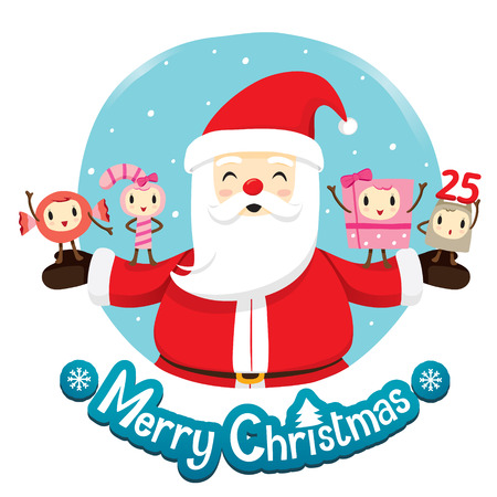 character design: Santa Claus And Ornaments Character Design, Merry Christmas, Xmas, Happy New Year, Objects, Animals, Festive, Celebrations