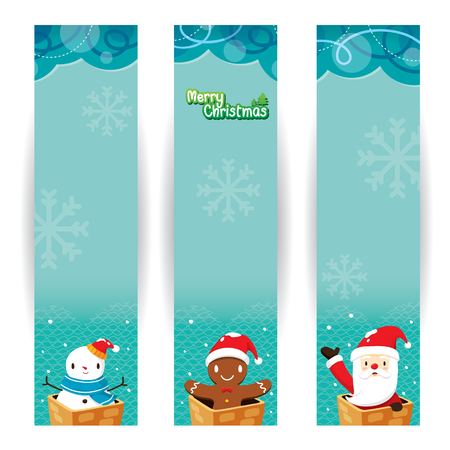 christmas objects: Christmas Banner, Merry Christmas, Xmas, Happy New Year, Objects, Animals, Festive, Celebrations Illustration