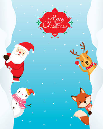 animals frame: Christmas Ornaments On Circle Frame And Decoration, Merry Christmas, Xmas, Happy New Year, Objects, Animals, Festive, Celebrations