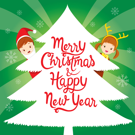 christmas objects: Children With Lettering On Xmas Tree, Happy New Year, New Years Eve, Merry Christmas, Xmas, Objects, Festive, Celebrations