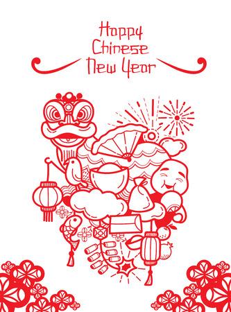 Chinees Nieuwjaar Decoratie, traditionele viering, China, Gelukkig Chinees Nieuwjaar Stockfoto - 55686808