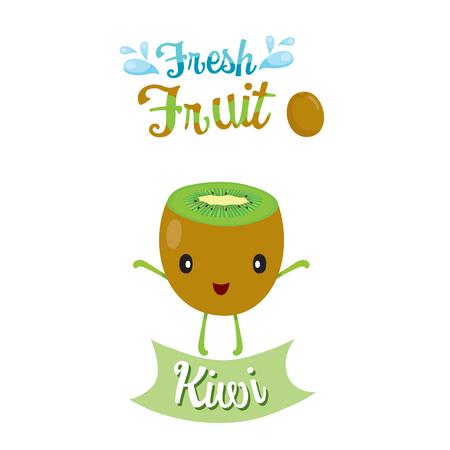 kiwi: Cute Cartoon Of Kiwi Fruit