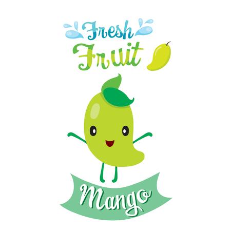 summer diet: Cute Cartoon Of Mango Fruit Illustration