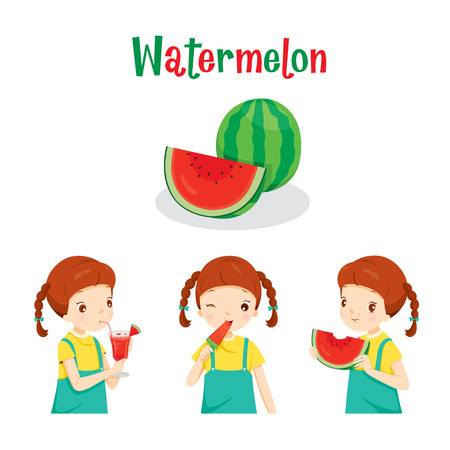 watermelon woman: Girl With Watermelon Fruit, Juice, Ice Cream And Letters, Tropical Fruits, Summer, Healthy Eating, Food, Juice